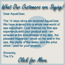 Aquaclear Spa Monthly Easiest Hot Tub Water